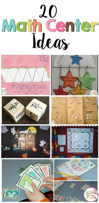 Engage your students with these 20 fun learning math center ideas that are perfect for upper elementary teaching! These activities are not my products to purchase but true math center ideas that you can implement right away!