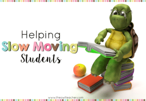 "Do you have slow moving students? These slow learners can really make teaching frustrating, especially when you aren't sure what to do. These strategies help teachers with their ""turtles"" without having to fail them in the process."
